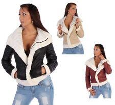 Cappotti e giacche da donna Beige pelliccia con cerniera