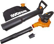 WORX WG518 Electric 12 Amp 2-Speed Leaf Blower, Mulcher & Vacuum