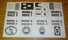 Word & Voice #1-8 VF/NM complete set - aaron cockle - oily comics - mini comics