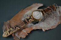 MA WATCH STRAP 22 20 18 MM GENUINE PYTHON SNAKE SKIN BROWN SAND FITS BREITLING
