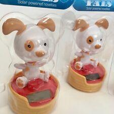Novedad Bailando Beagle Perro de Juguete accionado solar Flip Flap orejas Coche Hogar Regalo