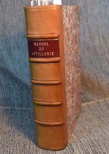 Manuel du Artillerie Rebound Antique French Military Book Tables Plates ca 1700