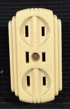 Vintage Eagle Bakelite Triple Electric Outlet Plug Strip Art Deco Original