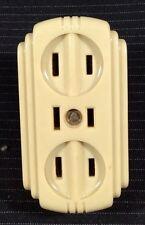 Vintage Eagle Bakelite Triple Electric Outlet Plug Strip Art Deco Original