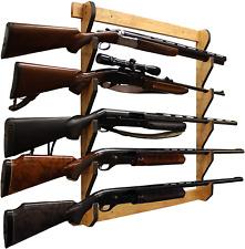 New listing Indoor 5 Rifle Shotgun Wall Storage Display Rack