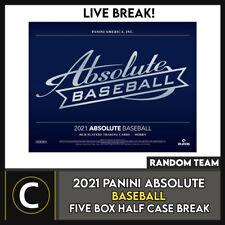 2021 Panini Absolute béisbol 5 Caja (mitad Case) romper #A1140 - equipos al azar