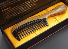 Cool Blood Function OX Horn Comb Wide Curl Hair Massager Comb Gift Box Pack