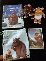 Gruffalo Bundle,Includes Book,soft toy Gruffalo& mouse DVD, keep Sake bag.