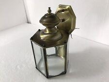 Vintage Glass Light Outdoor Lantern Sconce Bronze Mid Century Modern Lighting