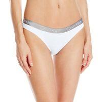 Calvin Klein Women's Underwear, CK Radiant Bikini Brief, White, Low Rise Panty