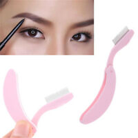 Foldable Steel Metal Eyebrow Comb Eyelash Extension Brush Cosmetic Makeup Tool A