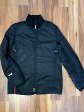 Prada Sport Black Puffer Coat Jacket Packable Hood Size S