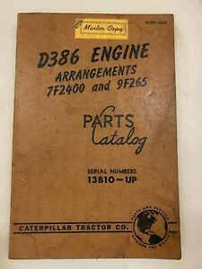 Caterpillar D386 engine parts manual. Genuine Cat book.