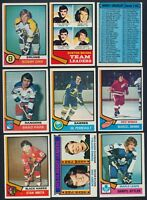 1974-75 Topps Hockey Complete Your Set cards #1-100 (see list) $0.99-18.00