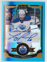 15-16 OPC Platinum Teddy Purcell Auto BLUE RAINBOW Oilers 2015