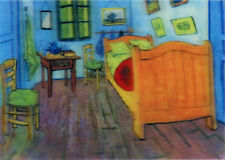 Vincent Van Gogh - Bedroom in Arles - 3D Lenticular Postcard Greeting Card