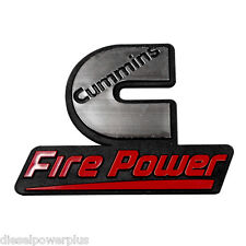 2 Cummins fire power emblem dodge ram decal stickers diesel badge truck logo new