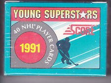 1991-92 , SCORE , YOUNG SUPERSTARS , FACTORY SEALED , 40 CARD SET