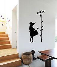VINILO DECORATIVO PARA PARED CALIDAD EXTRA WATERCAN GIRL Banksy Stile