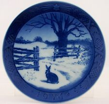 Vintage Royal Copenhagen Christmas Collector Plate 1971 Hare In Winter