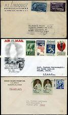 USA 1954/66 tre buste viaggiate da USA a Italia (m2647)
