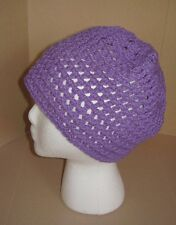 Handmade Knit Hat/Beanie - purple/lavender