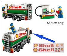Lego City Tank Truck 3180 60016 custom stickers 7939 554 671