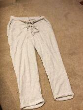 ZARA Womens Light Grey High Waist Lace Up Crop Tapered Leg Joggers Size Medium