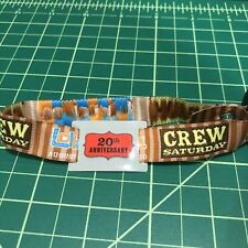 Lollapalooza Saturday Grant Park Chicago CREW Wristband Ticket 2011 UNUSED