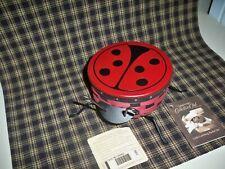 Longaberger 2009 Collector's Club Ladybug Basket Lid Protector Iron Legs Mint