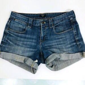 J. Crew Stretch Denim Stretch Cut-Off Jean Shorts Womens Size 4
