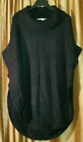 Lauren Conrad Black Knit Sweater/Cape (One Size)
