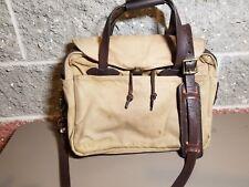 Filson Original Briefcase  257 Messenger Bag Tan, nice patina with filson repair