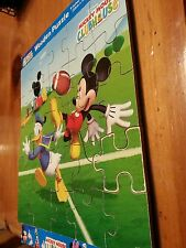 """Disney MICKEY MOUSE CLUBHOUSE """"Football"""" 25 Piece Wooden Jigsaw Puzzle"""