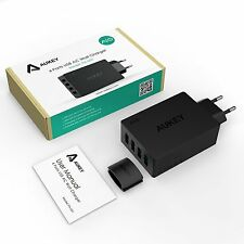 CARGADOR PARED USB Aukey 40W /8A 4 PUERTOS NUEVO PRECINTADO