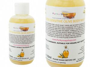1 bottle Super Sensitive Olive Body Wash, SLS and Paraben free, 150ml