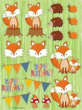 Forest Fox Party supplies-Woodland cuties Stickers 2pks of 4 sheets each