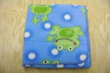 Frog Polka Dot Baby Blanket Can Be Personalized 28x36