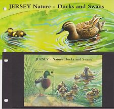 JERSEY PRESENTATION PACK 2004 NATURE - DUCKS & SWANS STAMP MINIATURE SHEET