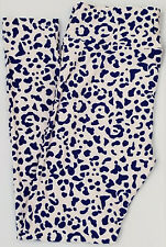 OS LuLaRoe One Size Leggings Cute Cheetah Leopard Blue White NWT 692