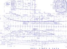 Hughes H4 Spruce Goose Hercules Blueprint Plan drawings RARE Archive 1940's