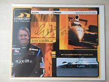 "Eddie Cheever Autographed 10"" X 8"" Photo Slick"
