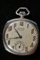 Vintage Standard Watch Co. Keystone 15 Jewel Nickel Plated pocket watch
