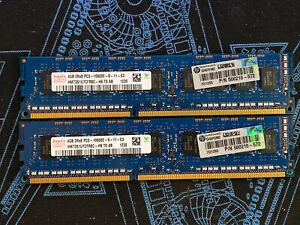 HP 500210-572 8GB 2x4GB PC3-10600E 1.5V HMT351U7BFR8C-H9 ECC Unbuffered Hynix