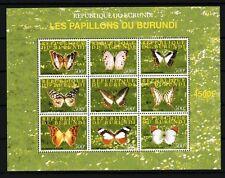 Burundi 2009 mariposas colección nº 143 nueva 1er elección