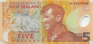 New Zealand   $5  1999  Series  CK  Polymer Circulated Banknote DNZ