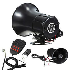 7 Sounds Loud Car Truck Warning Alarm Fire Siren Air Horn PA Speaker Safety New~