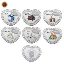 WR Forever Love Heart Shaped Silbermünze Set 1 Dollar Königin Elizabeth