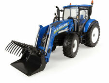 1:32 scale New Holland T5.120 with 740TL Front Loader Die-cast Model - J4958