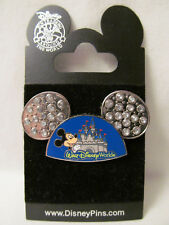 Wdw~New Celebrate Everyday Mickey Mouse Jeweled Ears Hat w/Castle Pin # 67269